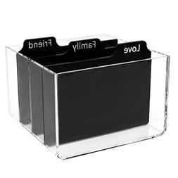 Clear Acrylic Photo Storage Box With Dividers For Zink 2x3 P
