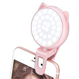 Selfie Ring Light for Camera, OURRY Clip On  Selfie LED Came