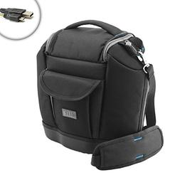 USA Gear Compact Camera Bag with Accessory Storage & Foam Pa