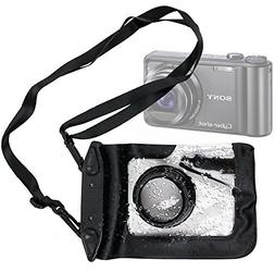 DURAGADGET Compact Camera Case in Black for Sony DSC-H55, H7