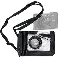 DURAGADGET Compact Camera Case in Black for Sony DSC-WX300,
