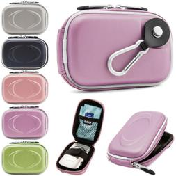 Compact Digital Camera Case Pouch Bag With Clip For Canon IV