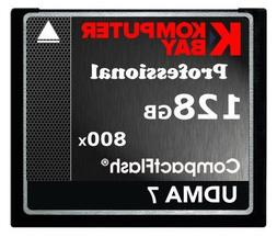 KOMPUTERBAY 128GB Professional COMPACT FLASH CARD CF 800X WR