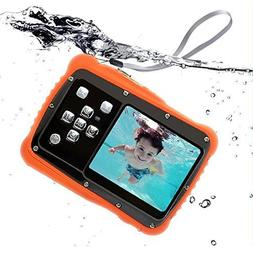 Compact Kids Waterproof Digital Camera 12MP 1080P underwater