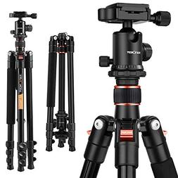 K&F Concept TM2324 Compact and Lightweight Aluminum Tripod w
