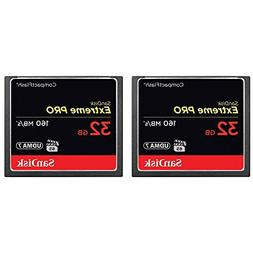 2-Pack of Sandisk Extreme PRO CompactFlash 32GB Memory Card