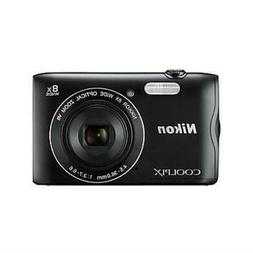 Nikon COOLPIX A300 Compact Digital Camera, 20.1MP, 8X Optica