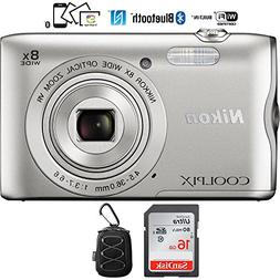 Nikon Coolpix A300 20.1MP 8x Optical Zoom NIKKOR WiFi Silver