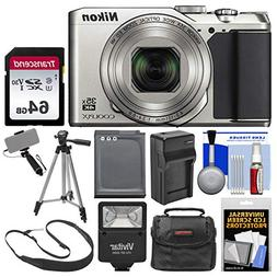 Nikon Coolpix A900 4K Wi-Fi Digital Camera  with 64GB Card +