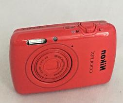 Nikon COOLPIX S01 Digital Compact Camera - Cherry Red New W/