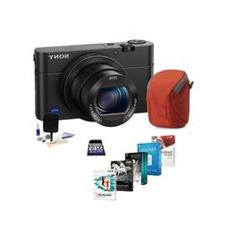 Sony Cyber-shot DSC-RX100 IV Digital Camera, Black - Bundle