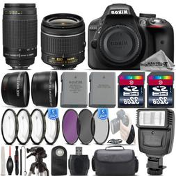 Nikon D3300 DSLR Camera with AF-P 18-55mm VR Lens