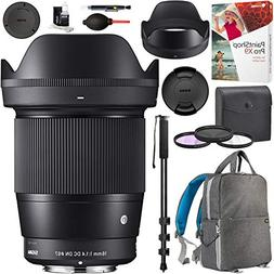 Sigma 16mm f1.4 DC DN Contemporary Lens for Sony E-Mount 402