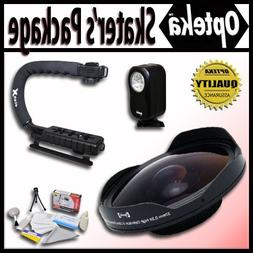 "Opteka Deluxe ""Skaters"" Package  for Canon Elura 60, 65, 70,"
