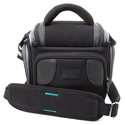 USA GEAR Deluxe Digital SLR Camera Case Bag With Padded Inte
