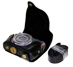 CEARI Detachable Camera Leather Case Protective Bag for Cano