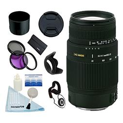 Sigma 70-300mm F4-5.6 DG Macro Lens w/58mm 3 Pc Filter Kit &