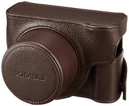 Panasonic DMW-CLX100 Leather Fitted Case for DMC-LX100, Brow