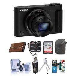 Sony DSC-HX80 Digital Camera, Black - Bundle 32GB SDHC Card,