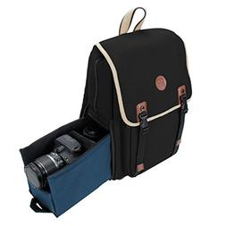 DSLR Camera Backpack by GOgroove  with Interior Tablet Sleev