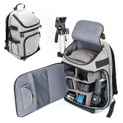 USA GEAR DSLR/SLR Camera Backpack with Padded Dividers, Trip
