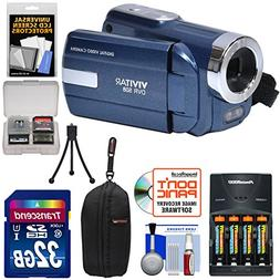 Vivitar DVR-508 HD Digital Video Camera Camcorder  with 32GB