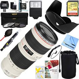 Canon EF 70-200mm F/4.0 L USM Lens + 64GB Ultimate Filter &