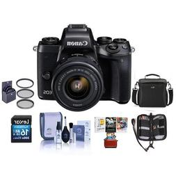 Canon EOS M5 Mirrorless Digital Camera Kit with EF-M 15-45mm