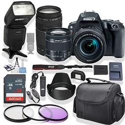 Canon EOS Rebel SL2 DSLR Camera 18-55mm & 75-300mm Lens  Kit