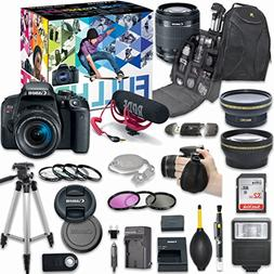 Canon EOS Rebel T7i DSLR Camera Deluxe Video Creator Kit wit