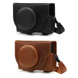 MegaGear Ever Ready Genuine Leather Camera Case compatible w