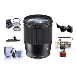 Sigma 16mm f/1.4 DC DN Contemporary Lens for Sony E-Mount Ca