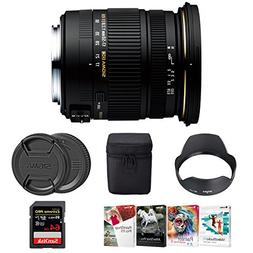 Sigma 17-50mm f/2.8 EX DC OS HSM Zoom Lens for Canon with 64