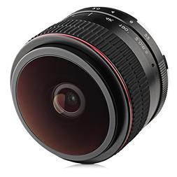 Opteka 6.5mm f/2 HD MC Manual Focus Fisheye Lens for Olympus