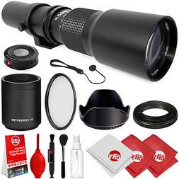 Opteka 500mm/1000mm f/8 Manual Telephoto Lens for Canon EF-M