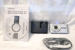 Olympus FE-340 Silver 8MP Digital Camera w/Battery and Charg