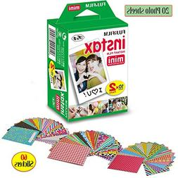 FujiFilm Instax Mini Instant Film 1 Pack - 20 Sheets + 60 As