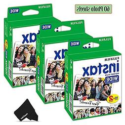 FujiFilm Instax Wide Instant Film 3 Pack  Total of 60 Photo