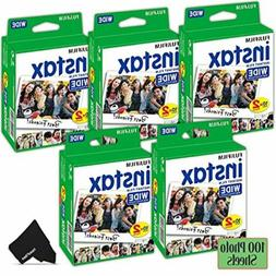 FujiFilm Instax Wide Instant Film 5 Pack  Total of 100 Photo
