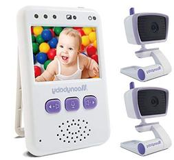MoonyBaby Handheld Compact Video Baby Monitor, 2 Cameras Pac