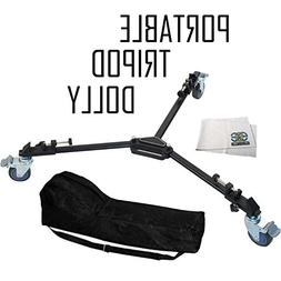 HEAVY DUTY PORTABLE TRIPOD DOLLY INCLUDING CARRYING CASE For