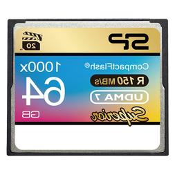 Silicon Power 64GB Hi Speed 1000x Compact Flash Card