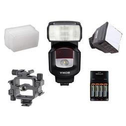 Sony HVL-F43M External Flash For Sony Cameras. Value Kit wit
