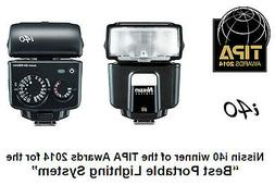 Nissin i40 Compact Flash for Sony Cameras w/ Multi Interface