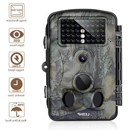 "Trail Camera 12MP 1080P 2.4"" LCD Game Hunting Camera w/ 42pc"