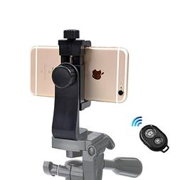 iPhone Tripod Mount Cell Phone Adapter, with Bluetooth Remot