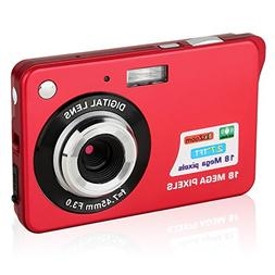 GordVE KG15172 2.7inch 18MP Mini Digital Camera 8x Digital Z