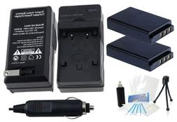KLIC-5001 Battery 2-Pack Bundle with Rapid Travel Charger an