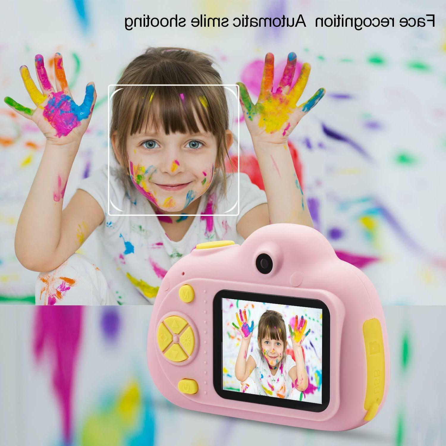 1080p Face Kids Camera Childrens Compact Cam