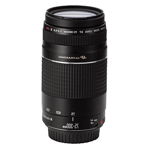 Canon EF 75-300mm f/4-5.6 III USM Telephoto Zoom Lens for Ca